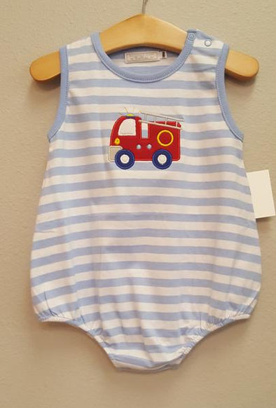 Stitchy Fish Basic Bubble - Firetruck Applique