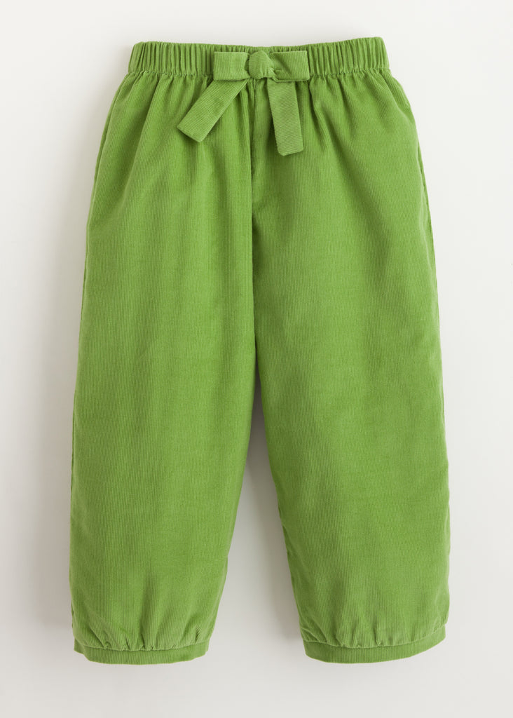 Little English Banded Bow Pants / Sage Green