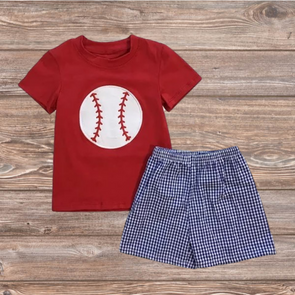 Baseball Time Short Set