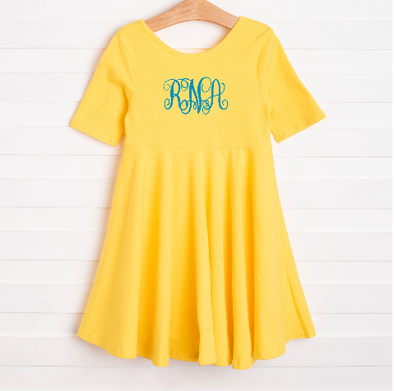 Leah Dress, Yellow