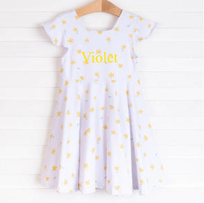 Petal Me Pretty Dress, Yellow Floral