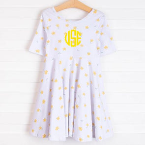 Leah Dress, Yellow Floral