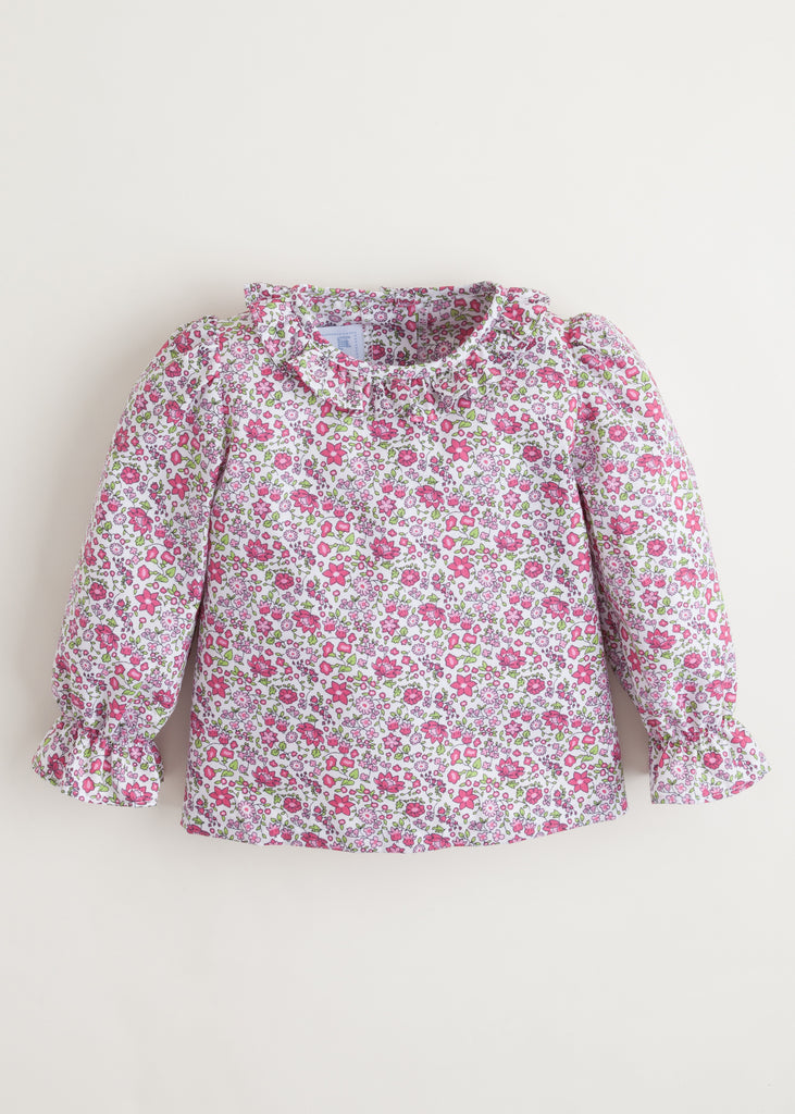 Little English Caroline Blouse - Berry Floral