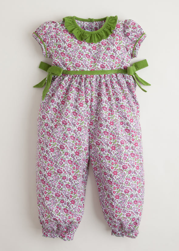 Little English Caroline Bow Romper