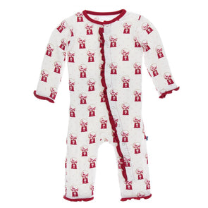 Kickee Pants Print Muffin Ruffle Coverall w/Zipper - Natural Gumball