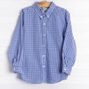 Logan Shirt, Royal Blue Big Check