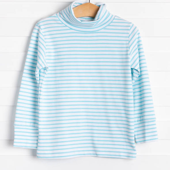 Richie Turtleneck, Mint Stripe