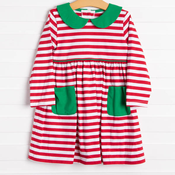 Lauren Dress, Red Stripe