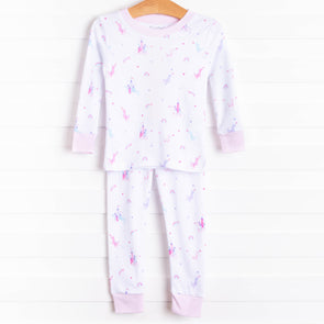 Kissy Kissy Rainbow Castle Pajama Set, Pink