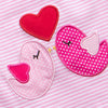 Love Birds Applique Dress, Pink