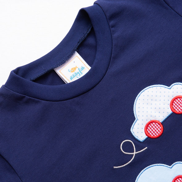 Too Cool to Cruise Applique Shirt, Navy