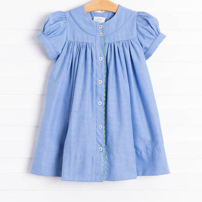 The Proper Peony Stella Dress, Chambray