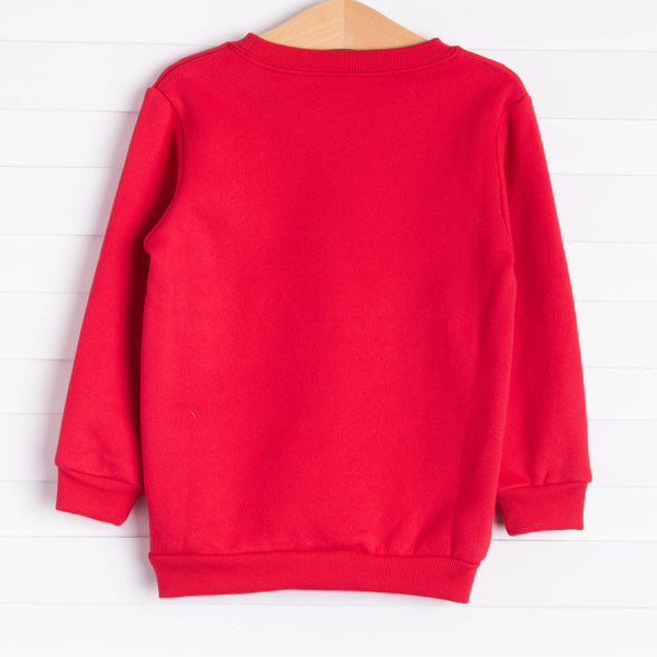 Reindeer Sweatshirt, Red