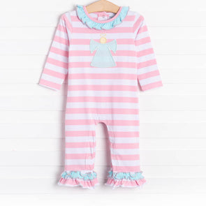 Three Sisters Angel Applique Romper