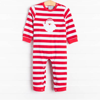 Three Sisters Santa's Smile Applique Romper