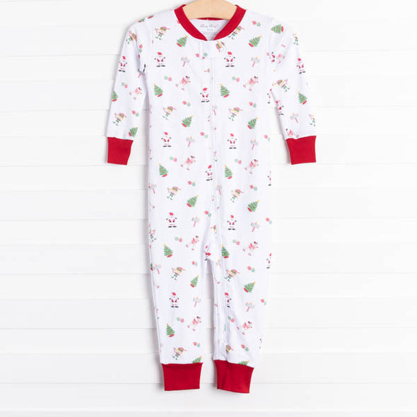 Kissy Kissy North Pole Zip Pajamas
