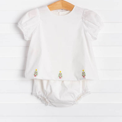 Baby Sen Arden Christmas Tree Diaper Set, Girl