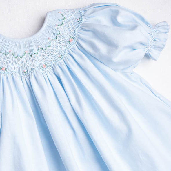 The Proper Peony Wedgewood Baby Dress