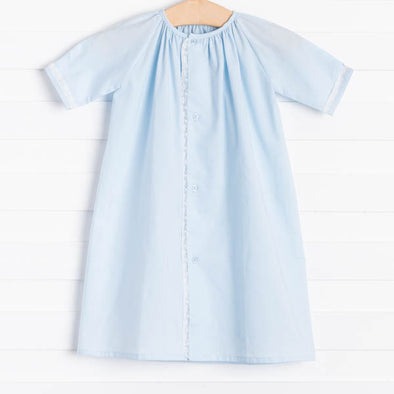 Auraluz Elijah Blue Button Front Daygown