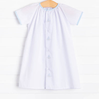 Auraluz Windward Embroidered Sailboats Daygown