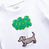 Paddy's Parade Pup Applique Shirt, White