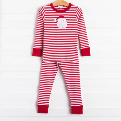 Magnolia Baby Better Watch Out Santa Applique Pajamas
