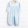 Auraluz Ace Blue Embroidered Helicopters Long Romper