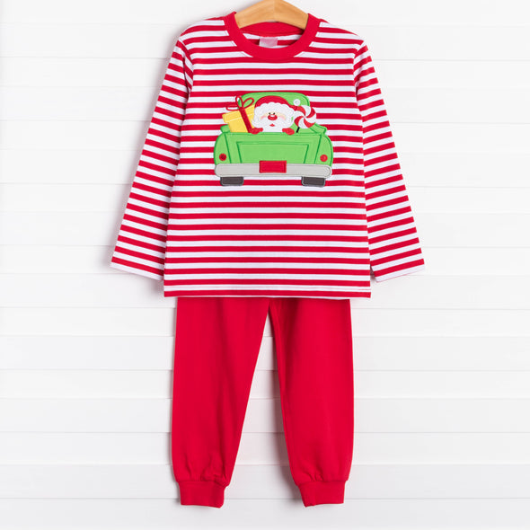 Jingle All the Way Truck Applique Loungewear