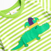 Court Jester Croc Applique Shirt, Green