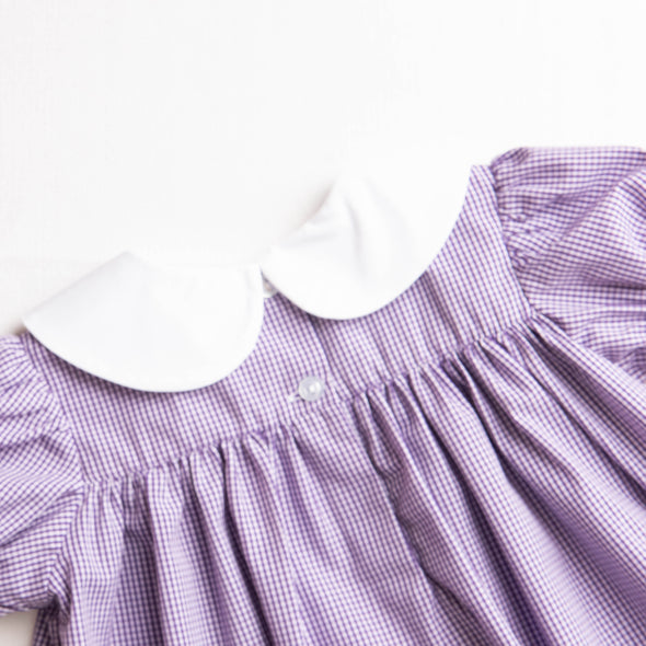 Bon Temps Embroidered Ruffle Dress, Purple