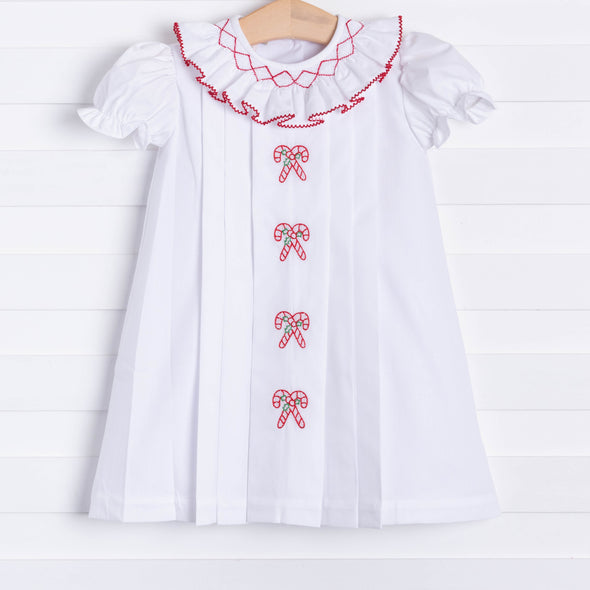 Marco & Lizzy White Christmas Embroidered Dress