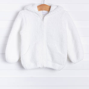 Angel Dear Snuggle Up Chenille Jacket, White