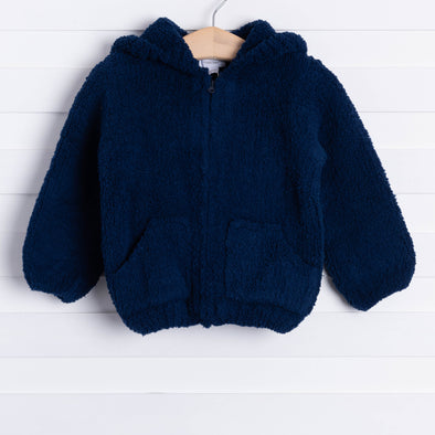 Angel Dear Snuggle Up Chenille Jacket, Navy