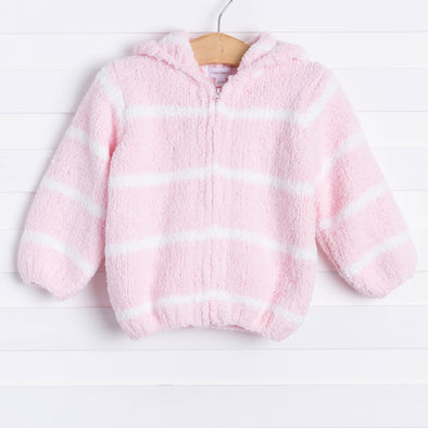 Angel Dear Snuggle Up Chenille Jacket, Pink Stripe