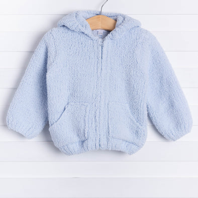 Angel Dear Snuggle Up Chenille Jacket, Light Blue