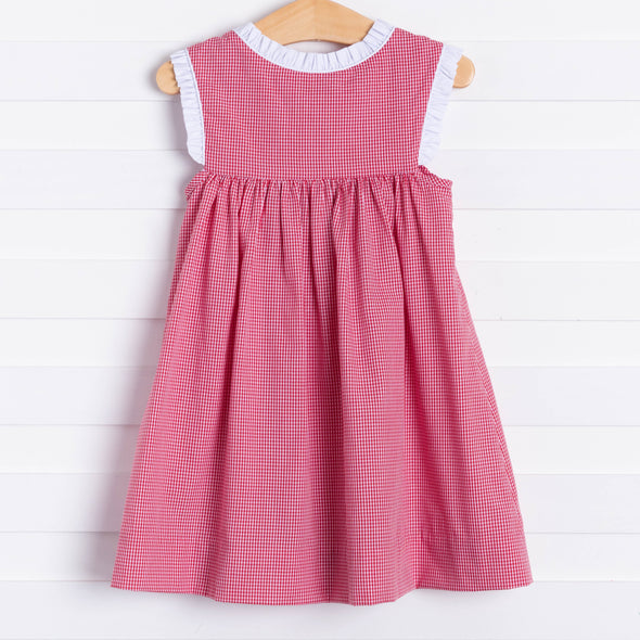 Charlotte Dress, Red Gingham