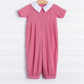Jacob Romper, Red Gingham