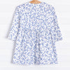 Paige Popover Dress, Cornflowers