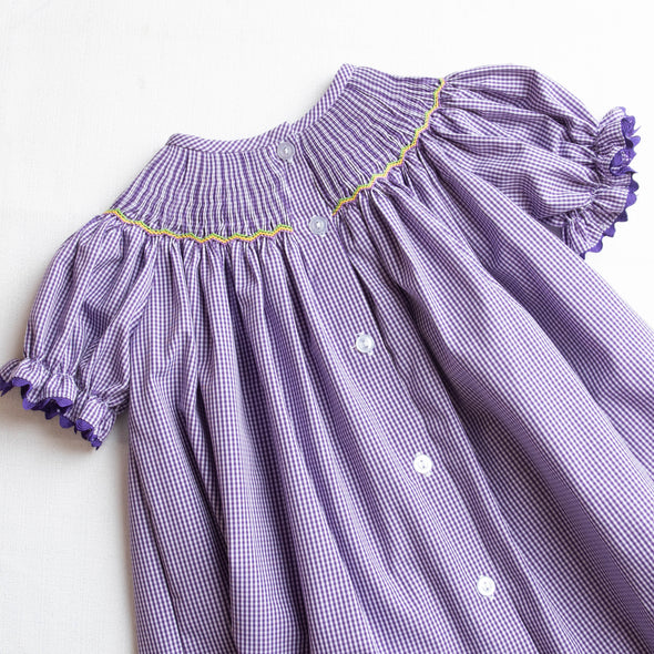 Carnival Croc Smocked Dress, Purple