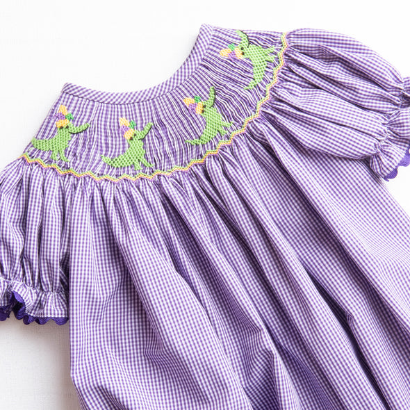 Carnival Croc Smocked Bubble, Purple