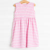 Egg-static Bunny Applique Dress, Pink