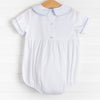 Peter Cottontail Smocked Bubble, Blue