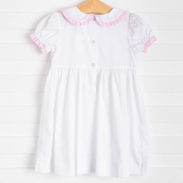 Poppy Cottontail Smocked Dress, Pink