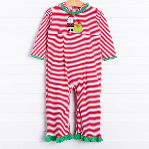 Squiggles Many Gifts Santa Applique Romper