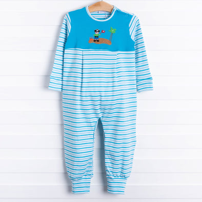 Squiggles Pirate Island Applique Romper