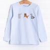 Squiggles Safari Trio Applique Shirt, Older Boys