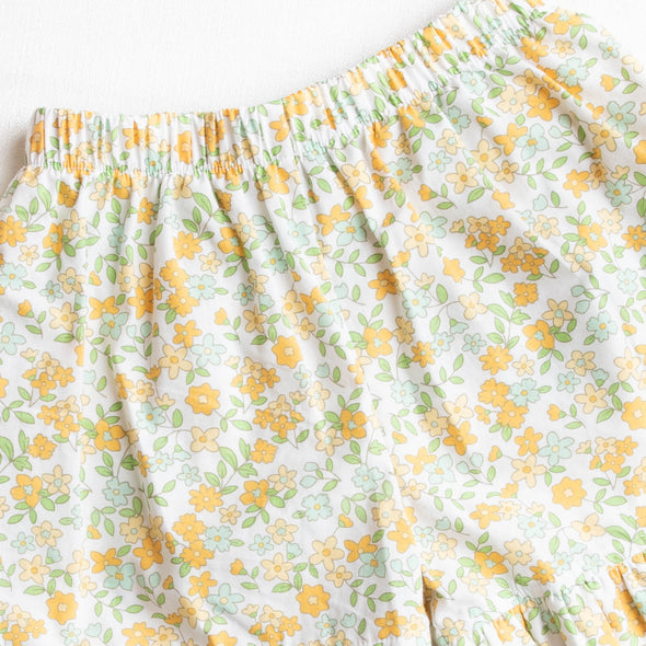 Daisy Garden Short Set, Yellow