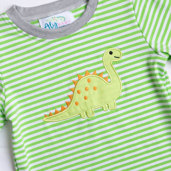 BrotherSaurus Green Striped Soft Set