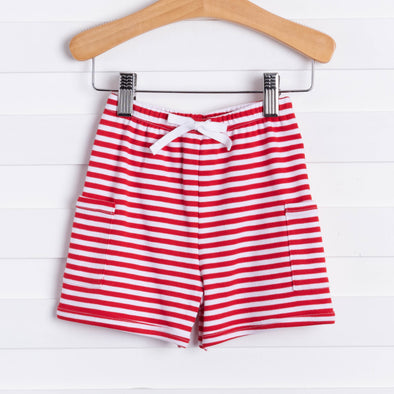 Bella Bliss Red/White Striped Shorts