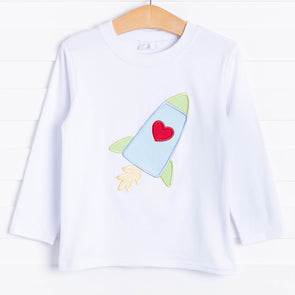 Rocket To My Heart Applique Shirt